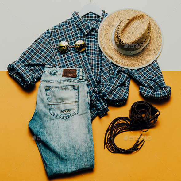 Cowboy Country outfit. Fashionable accessories. fashion style - Stock Photo - Images