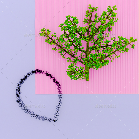 Fashion accessory choker minimal design - Stock Photo - Images