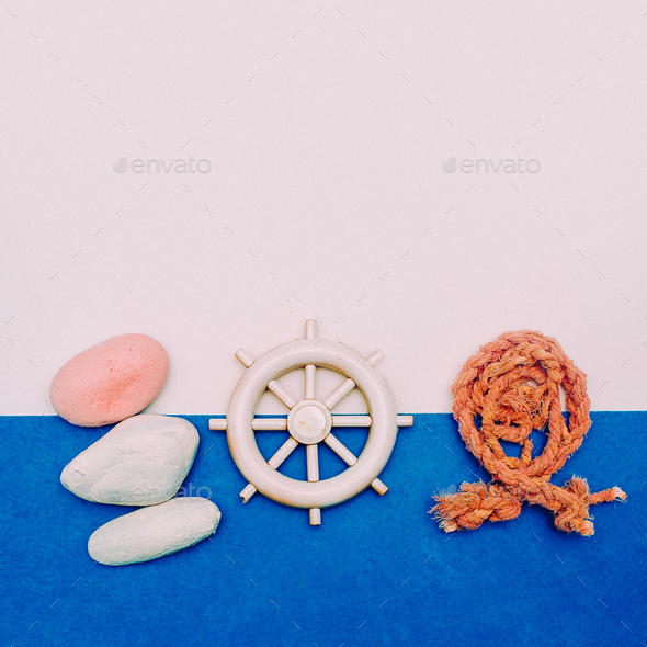 Set Souvenir Fisherman sailor Minimal Art - Stock Photo - Images