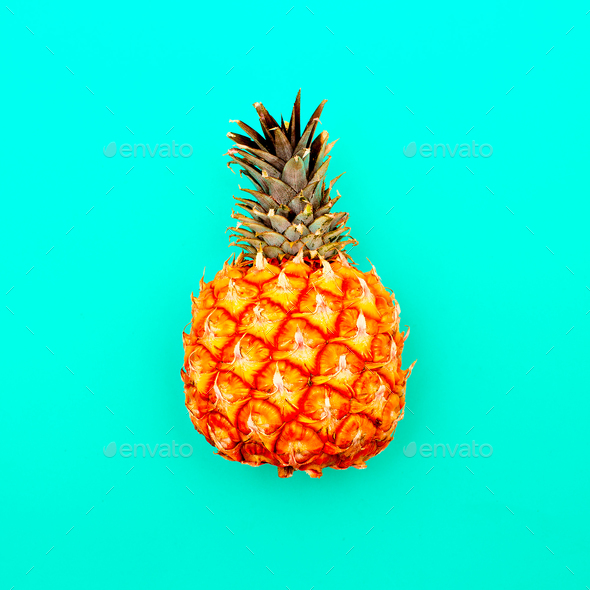 Pineapple minimal art style - Stock Photo - Images