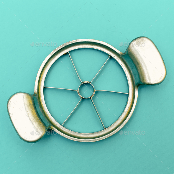 Apple Cutter Vintage Kitchen Tool Minimal art - Stock Photo - Images