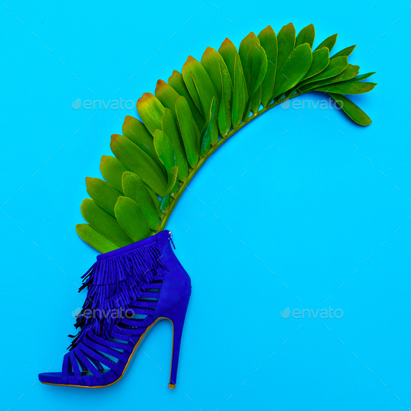Shoes heels. Stylish minimal design. Fashion concept - Stock Photo - Images