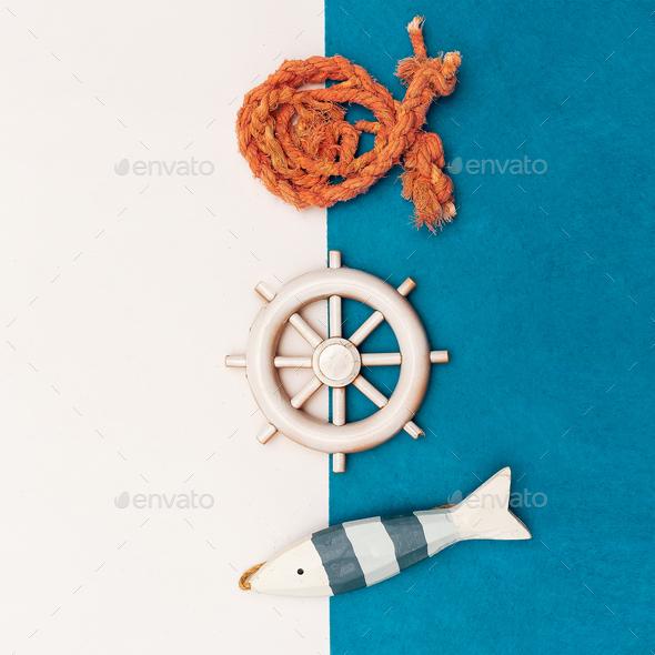 Set Souvenirs Seaman Minimal art - Stock Photo - Images