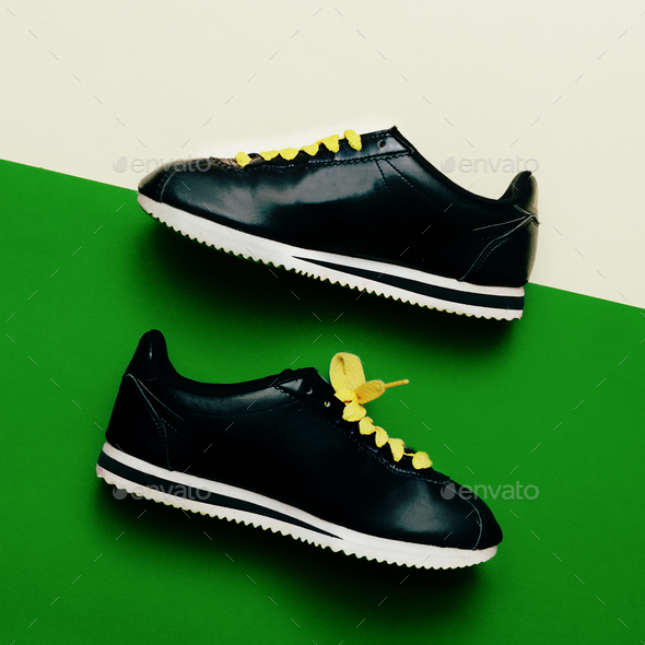 Sneaker Minimal Fashion Design Urban Style Love shoes - Stock Photo - Images