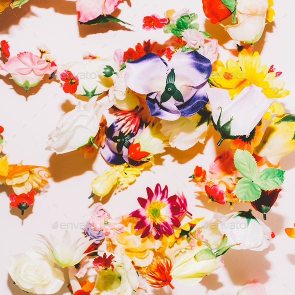 Flower chaotic background. Minimal Art - Stock Photo - Images