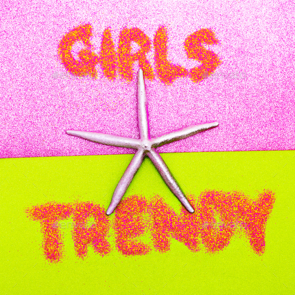 Beach Girls Trend Minimal design fashion - Stock Photo - Images
