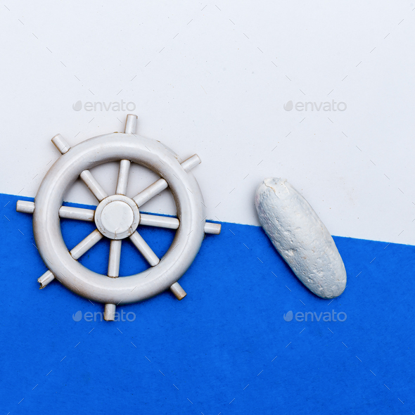 Set Souvenir Seaman Minimal art - Stock Photo - Images