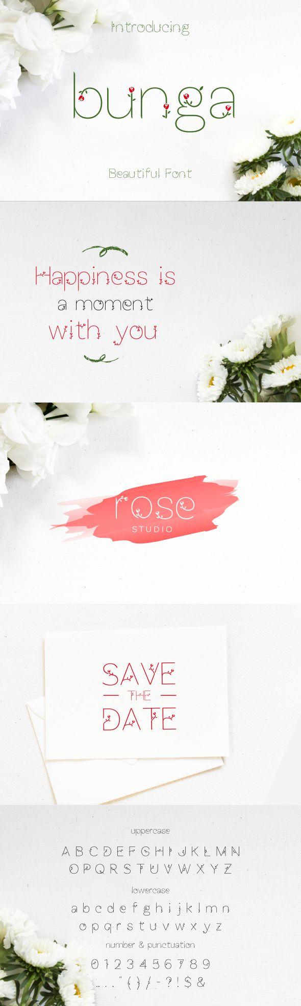 Bunga font - Decorative Fonts