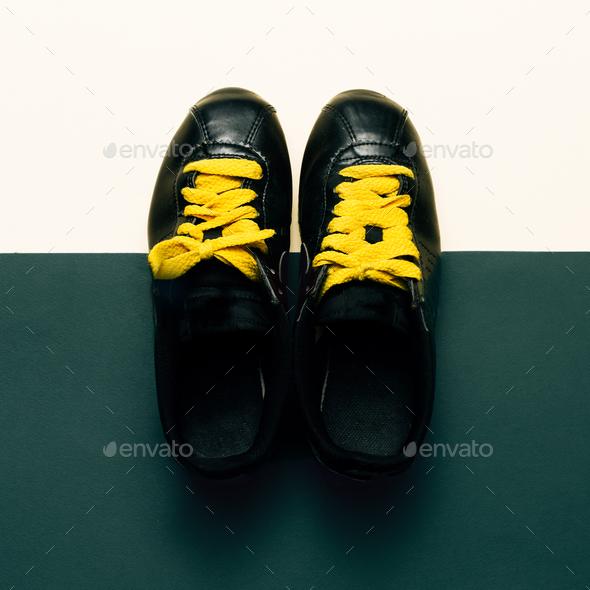 Sneakers, Urban Style fashion Minimal Design - Stock Photo - Images