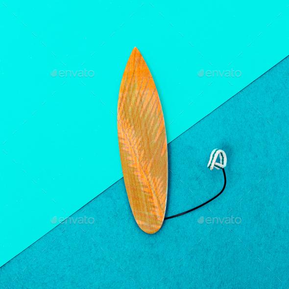 Surfboard minimal art design - Stock Photo - Images
