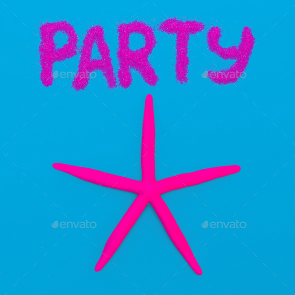 Beach Party Starfish Minimal art - Stock Photo - Images