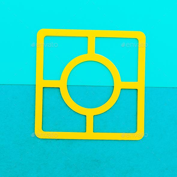 Kitchen accessories. Minimal art design - Stock Photo - Images