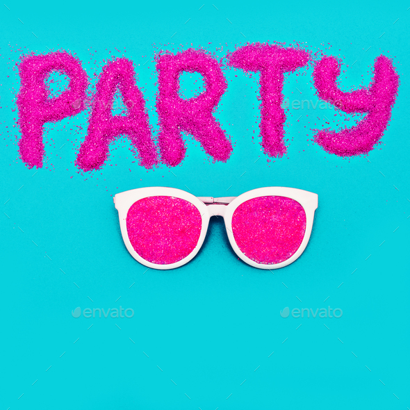 Beach Party Sunglasses Minimal art - Stock Photo - Images