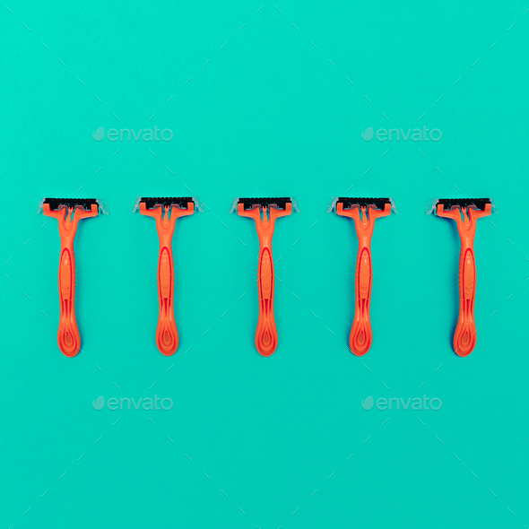 Razors Minimal design art gallery - Stock Photo - Images