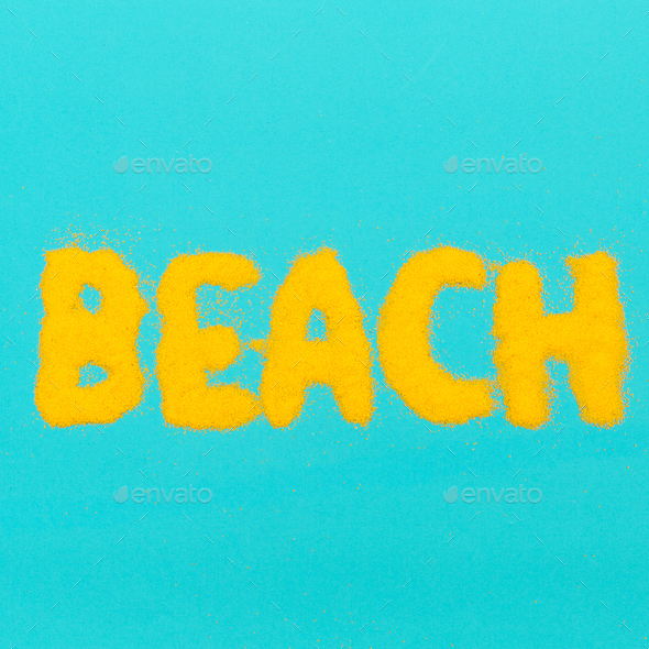 Beach vibes Vacation time - Stock Photo - Images