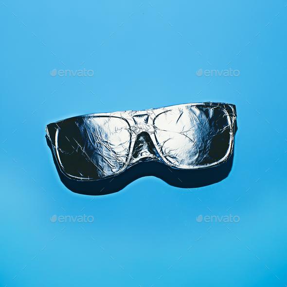 Glasses in aluminum foil. Stillife - Stock Photo - Images