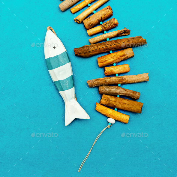Marine style fish Souvenir Minimal - Stock Photo - Images