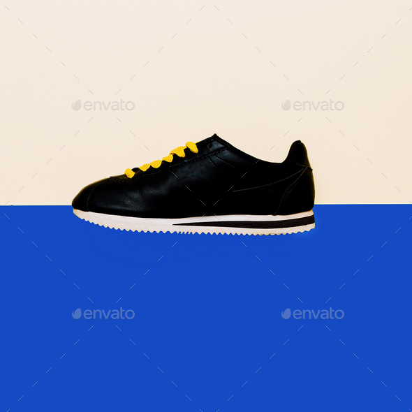 Shoes, Sneakers Minimal Fashion Design - Stock Photo - Images