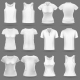 White Blank T-Shirt Vector Templates for Men and Women