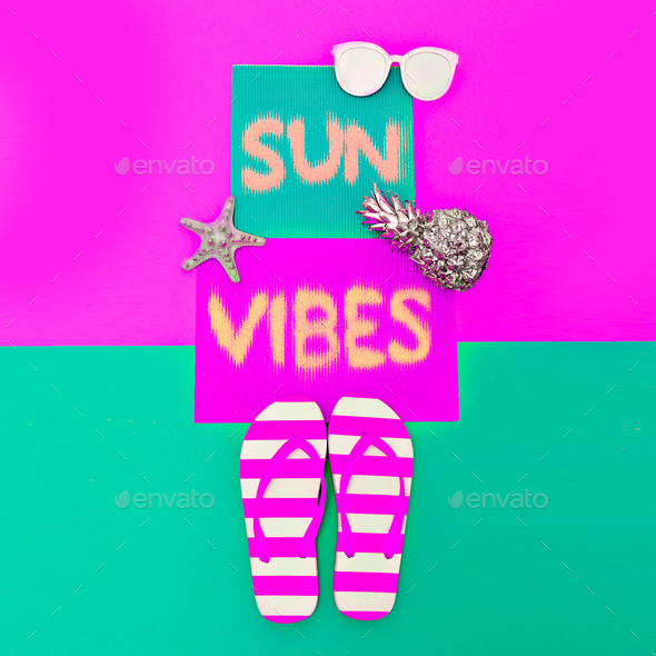 Positive sunny vibes Minimal art fashion style - Stock Photo - Images