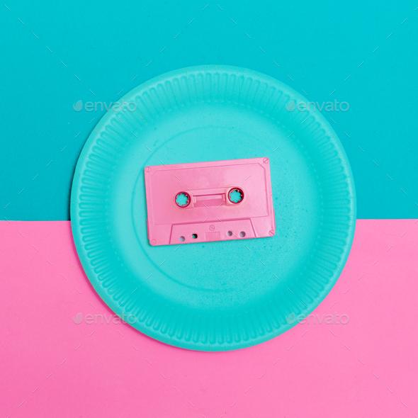 Audiocassette Vintage Minimal Design - Stock Photo - Images