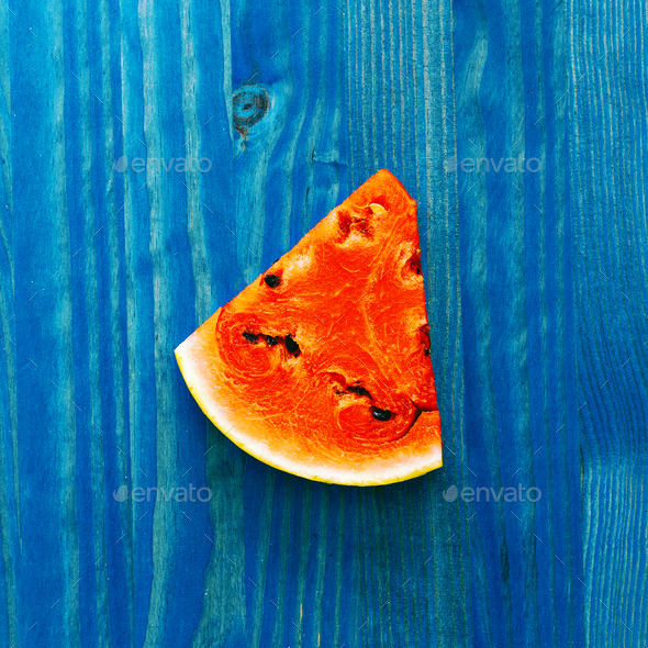 Piece of watermelon. Fresh tropical ideas. Creative art - Stock Photo - Images