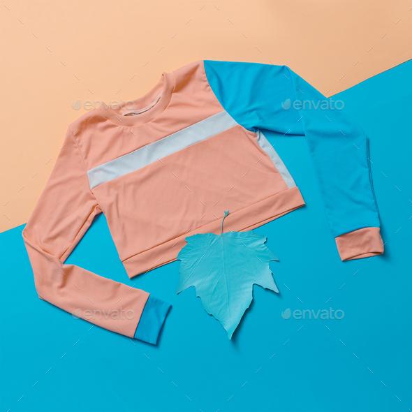 Stylish sports blouse. Geometry. Creative. Minimal. Hipster styl - Stock Photo - Images