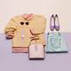 Stylish female clothes set. Woman/girl outfit on stylish backgro - PhotoDune Item for Sale