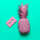 Pineapple and Audio cassette. Beach party Retro vibes Minimal ar - PhotoDune Item for Sale