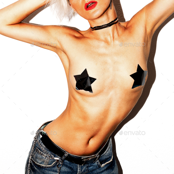 Sexy Girl Rock Party Style - Stock Photo - Images