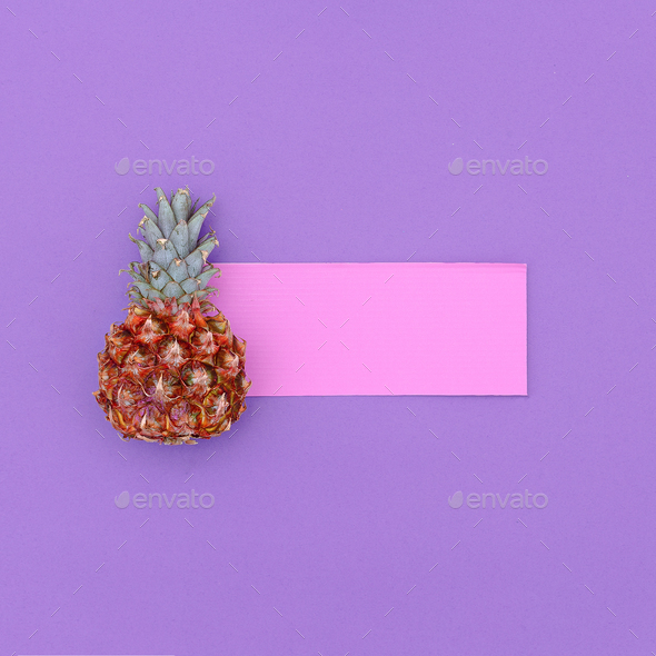 Mini pineapple fashion Minimal art design Candy Colors - Stock Photo - Images
