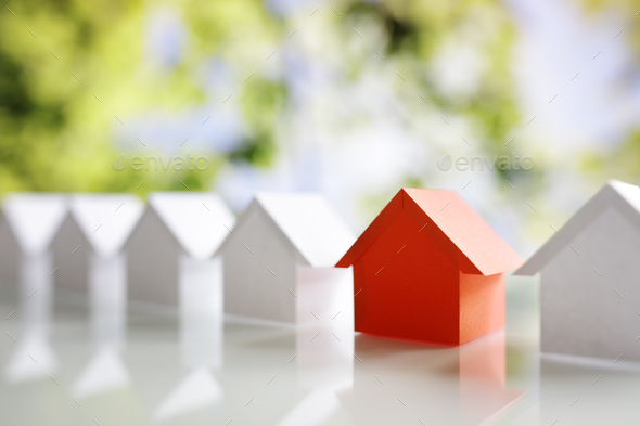 Searching for real estate property, house or new home - Stock Photo - Images