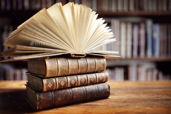 Books in library - Stock Photo - Images