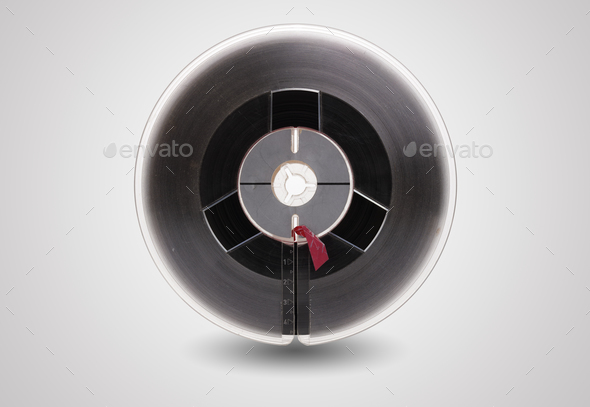Reel to reel audio tape isolated - Stock Photo - Images