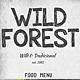 Wild Forest Food Menu Bundle - GraphicRiver Item for Sale
