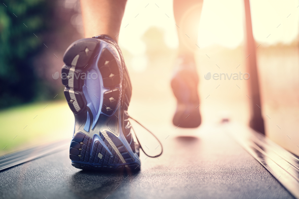 Running on treadmill - Stock Photo - Images