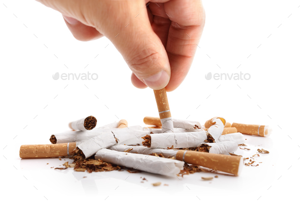 Quitting smoking - Stock Photo - Images