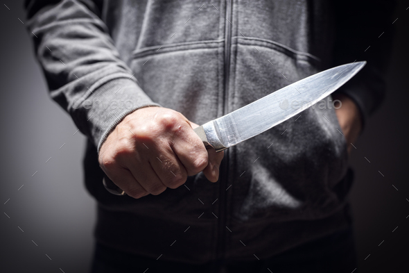 Knife crime - Stock Photo - Images