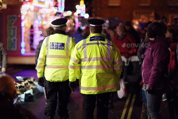 British police community support officer - Stock Photo - Images