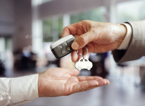 Car sales buying a new car - Stock Photo - Images