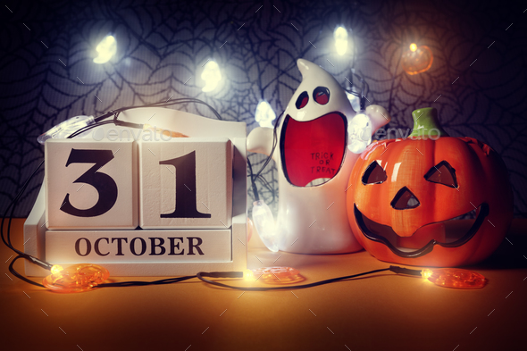 Halloween calendar - Stock Photo - Images