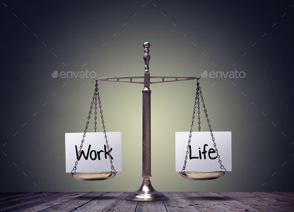 Work life balance scales - Stock Photo - Images
