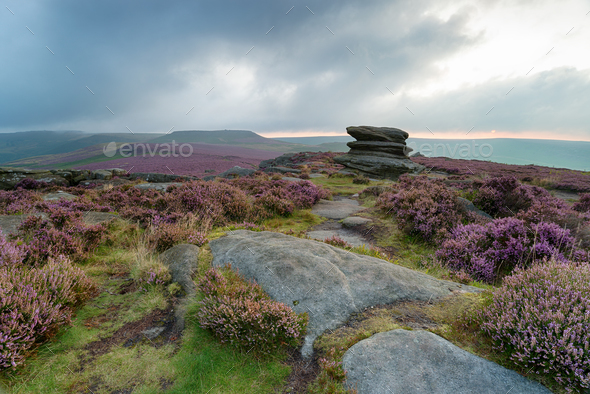 Over Owler Tor - Stock Photo - Images