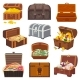 Chest Vector Treasure Box with Gold Money Wealth - GraphicRiver Item for Sale