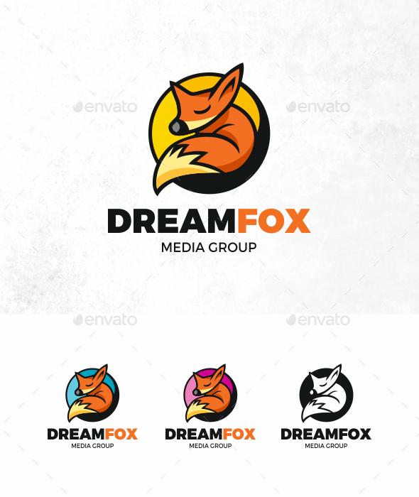 Dream Fox Logo - Animals Logo Templates