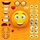 Cartoon Yellow 3d Smiley Face Vector Character