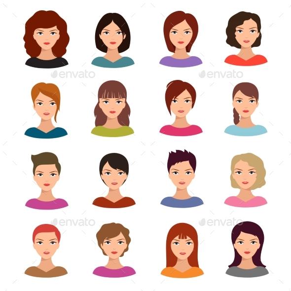 Female Portraits - People Characters