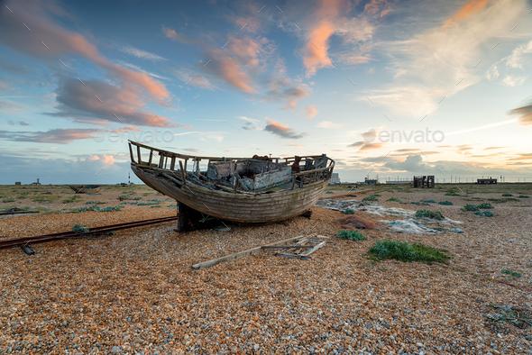 Abandoned Fishing Boat - Stock Photo - Images