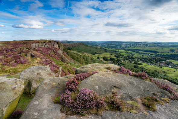 Summer at Curbar Edge - Stock Photo - Images