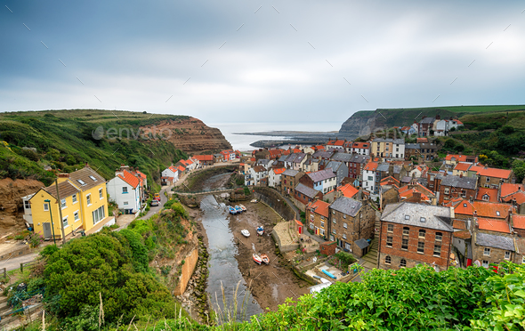 Staithes in Yorkshire - Stock Photo - Images